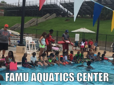 Swimming lessons at the FAMU Aquatics Center.