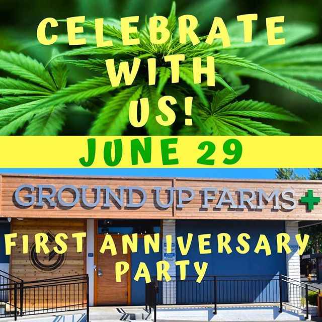 Only one week until our FIRST ANNIVERSARY PARTY! 🎉 But this last year flew by, so we're sure this week will too 😎 Join us the afternoon of Saturday, June 29 for deals, food, vendor visits, merch giveaways and more to celebrate a year of bringing Medford some of the best craft cannabis Oregon has to offer! Thanks for a great year, here's to even better to come🎆🌱🎆 . . • Over 21 only • Nothing for sale on Instagram • Consume responsibly • . . #groundupfarms #livegroundup #groundupcomingevents #celebrategoodtimes #celebration #happybirthdaytous #firstanniversary #anniversaryparty #birthdayparty #dispensary #summerfun #vendorday #freefood #specialday #weloveourcustomers #craftcannabis #cannabiscommunity #oregongrown #oregoncannabis #smokelocal #growlocal #southernoregon #liveloud #enjoylife