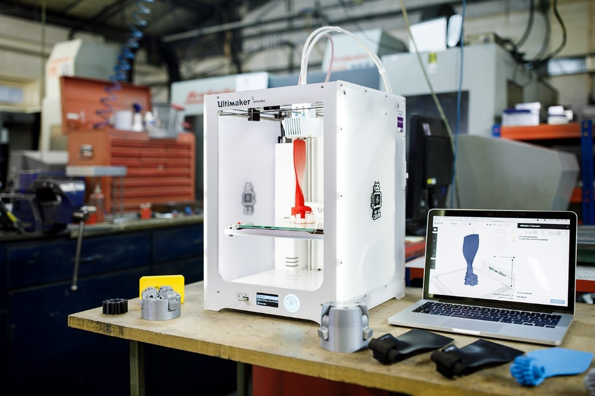 Functional prototypes sliced in Ultimaker Cura and 3D printed on Ultimaker 3 - By Svitlana Lozova - Own work, CC BY-SA 4.0