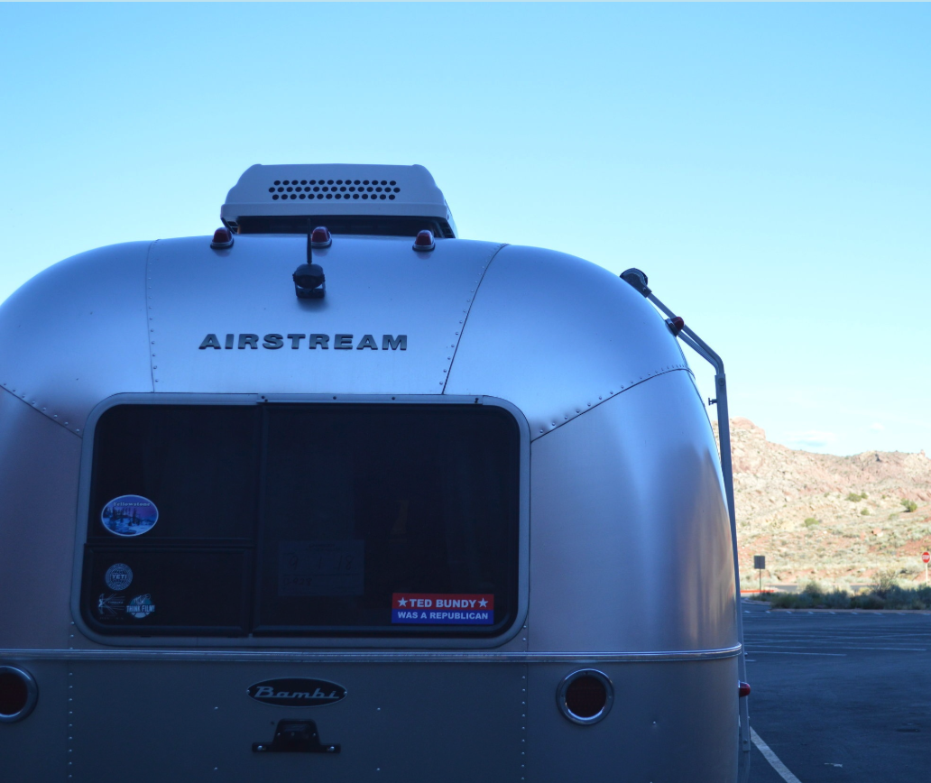 Silver Bullet  A 16' Airstream trailer with a kitchen and bath. Accommodates two people.