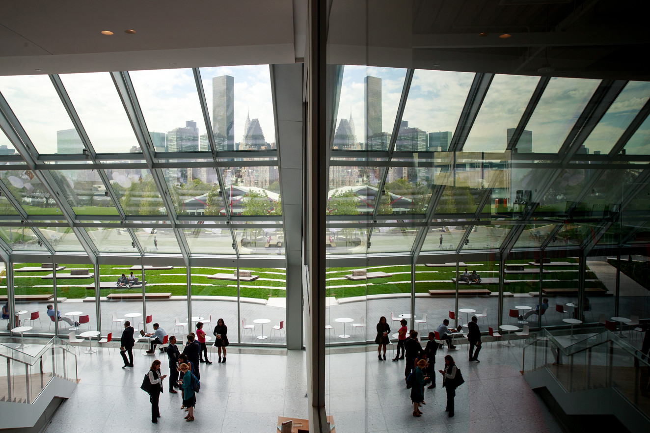 'The Bridge' building on the campus of Cornell Tech on Roosevelt Island. Getty Images