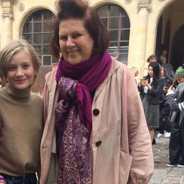 """It's not everyday or really every lifetime that a pfm model at marigolds age does every  important fashion week  in the world . But to top it off marigold gets to meet a living legend !! To meet @suzymenkesvogue 🤩🤩🤩🤩 all I can say is """" wow """" #lfw #pfw#mfw#pattifalconeragency #suzymenkes"""