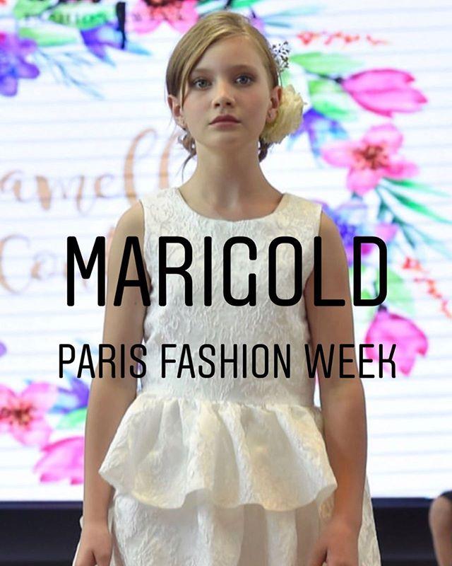 Off she goes our very own @marigoldsheartgarden  walking runway at @parisfashionweek ❤️❤️#pattifalconeragency #parisfashionweek
