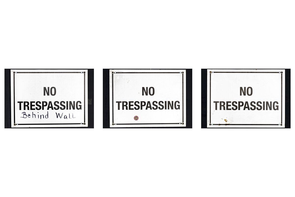 No Tresspassing Triptych I 1200.jpg