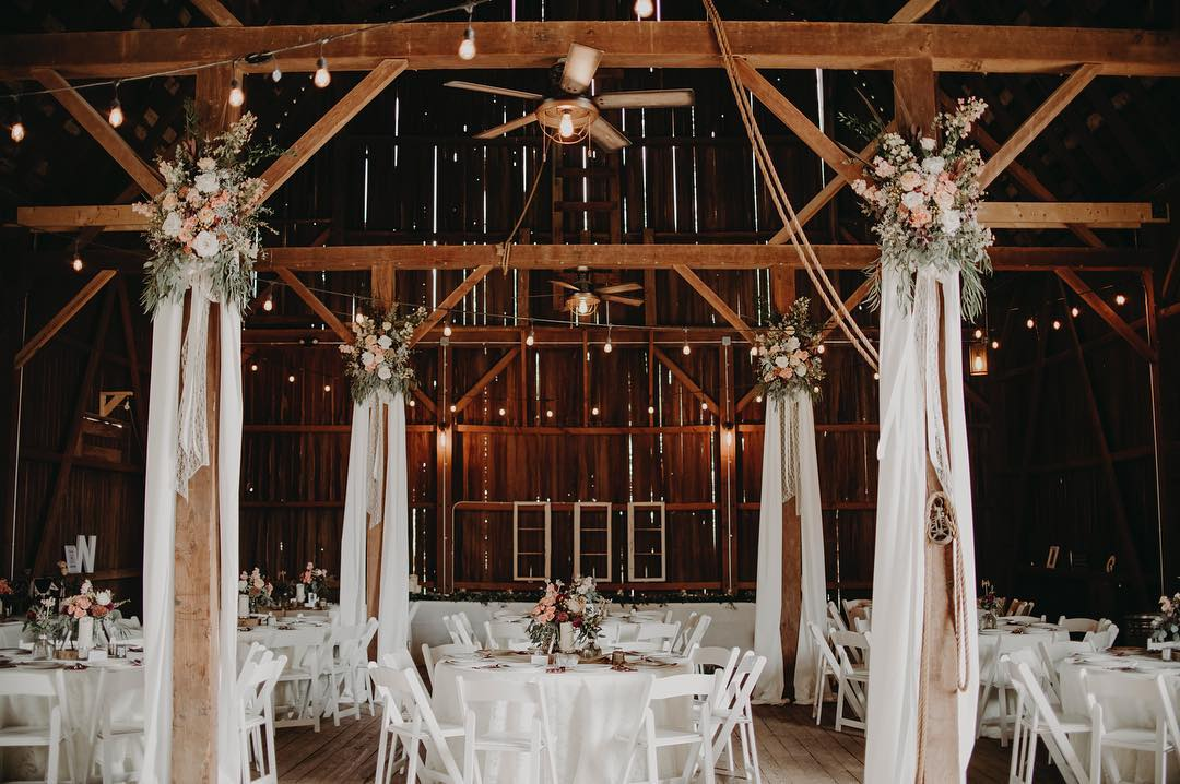 Celebrating Authenticity - Celebrate the charm and tranquility that Mapleton Barn has to offer. Complete with original barn boards and exposed beams, this nearly 100 year old structure is the rustic backdrop for your vision.From unique country weddings to memorable family celebrations and corporate events, Mapleton Barn provides a charming atmosphere for you and your guests to gather and celebrate.