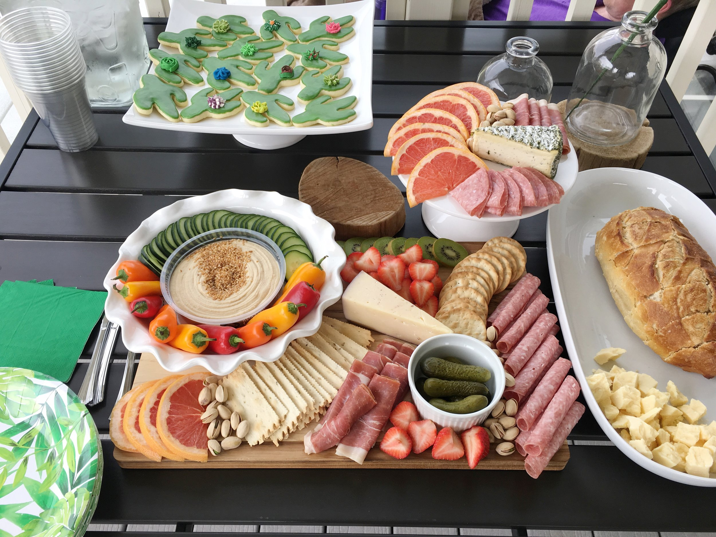 Food for party idea: Grazing board