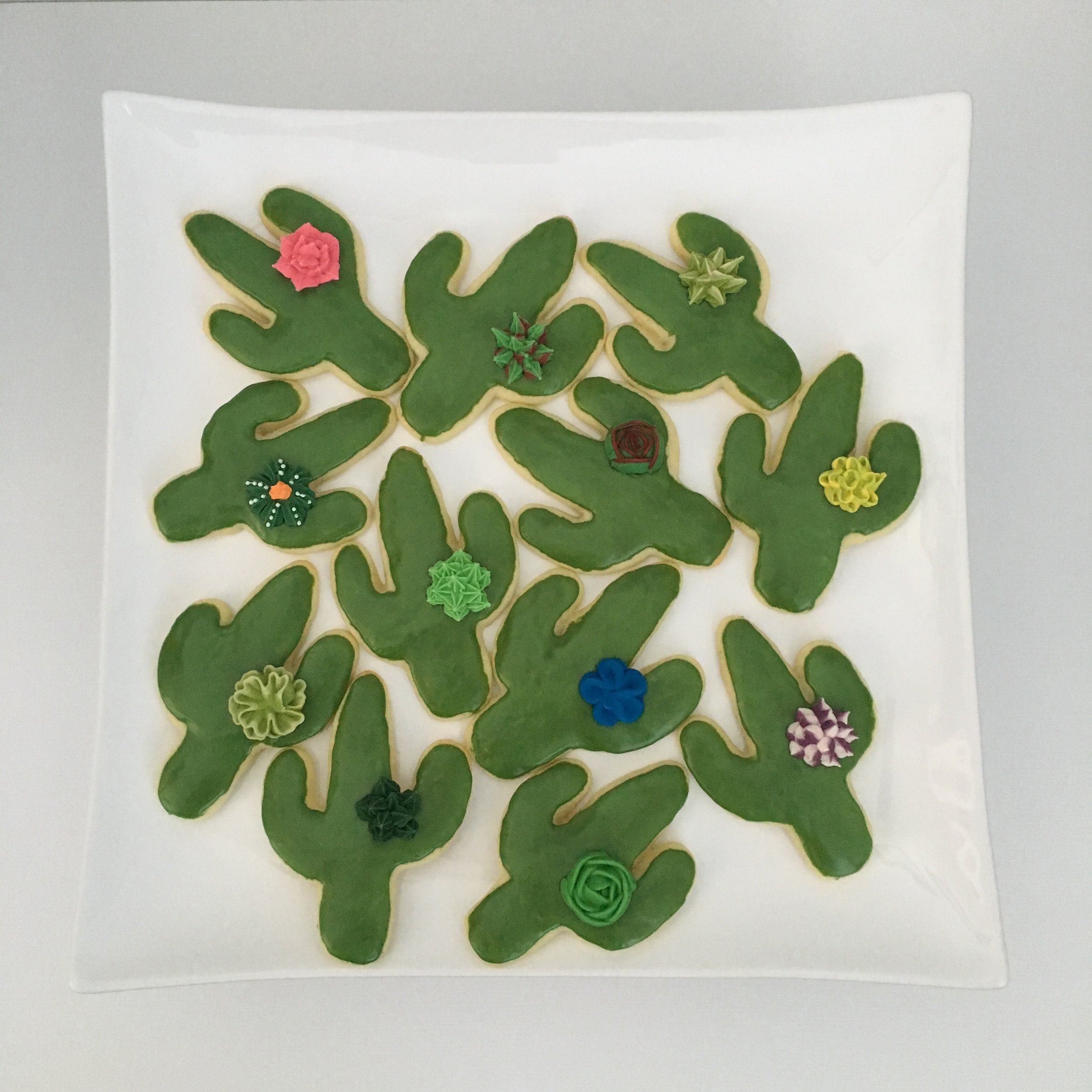 Decorated sugar cookies for 1st birthday party