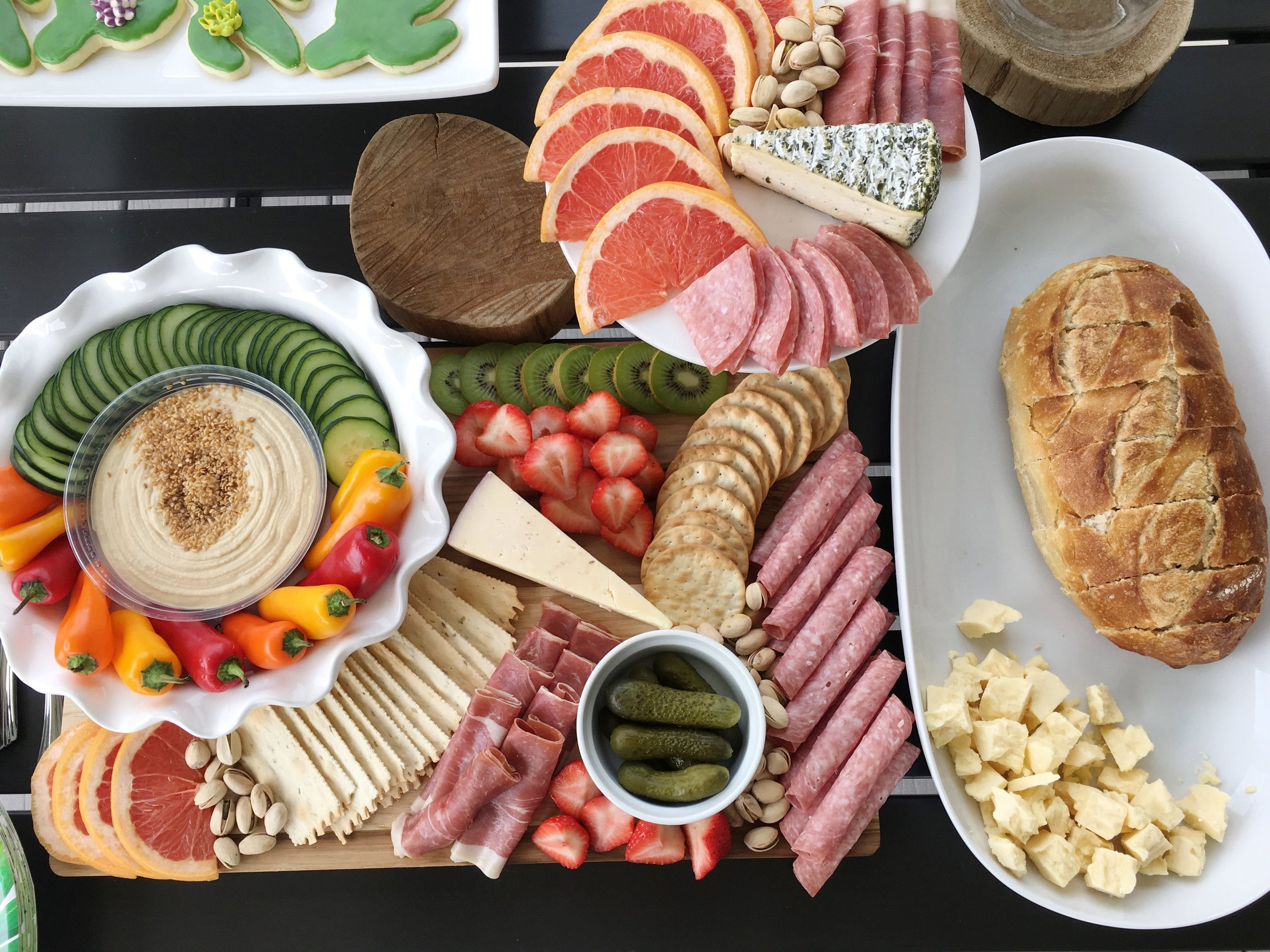 Grazing board dinner option for birthday party