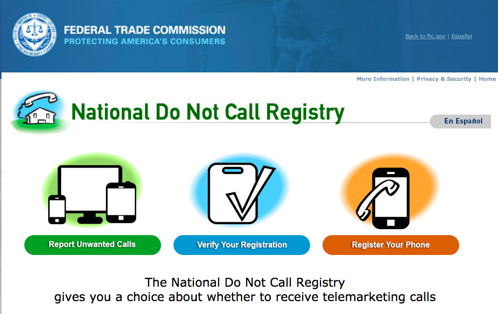 National Do Not Call Registry: Declutter junk papers, mail, & phone calls