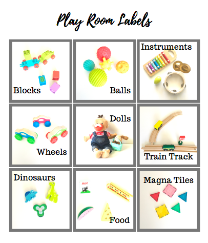 Playroom & Toy Labels For Toddlers & Preschoolers