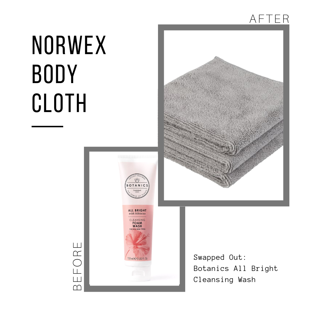 Norwex Body Cloth: $20.99 for a set of 3  Botanics Cleansing Wash: $5.99