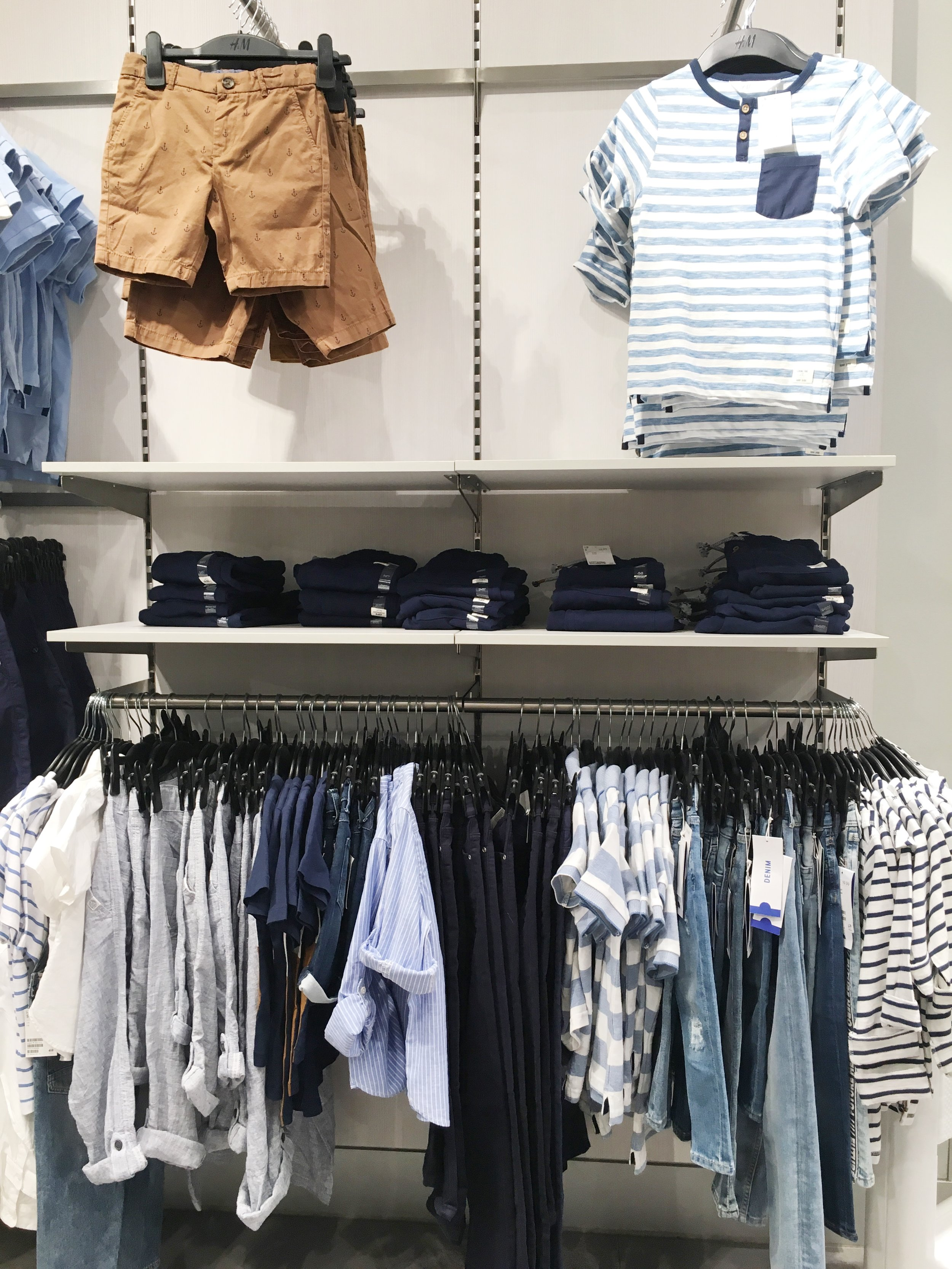 Color Block for Boys: shades of blue, white, & tan color scheme