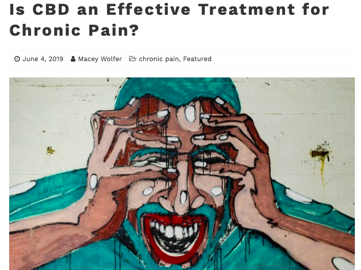 CBD AND CHRONIC PAIN