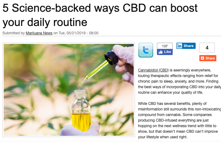 CBD FOR DAILY ROUTINE