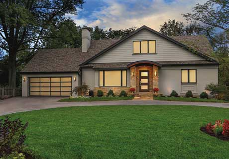AVANTE® COLLECTION - Transform your home's appearance with the modern look of a glass and aluminum garage door. The Clopay® AVANTE® collection gives you the beauty of natural light during the day and a beautiful a warm glow at night. Different glass garage door panel options allow you to choose the right degree of natural light for your home.
