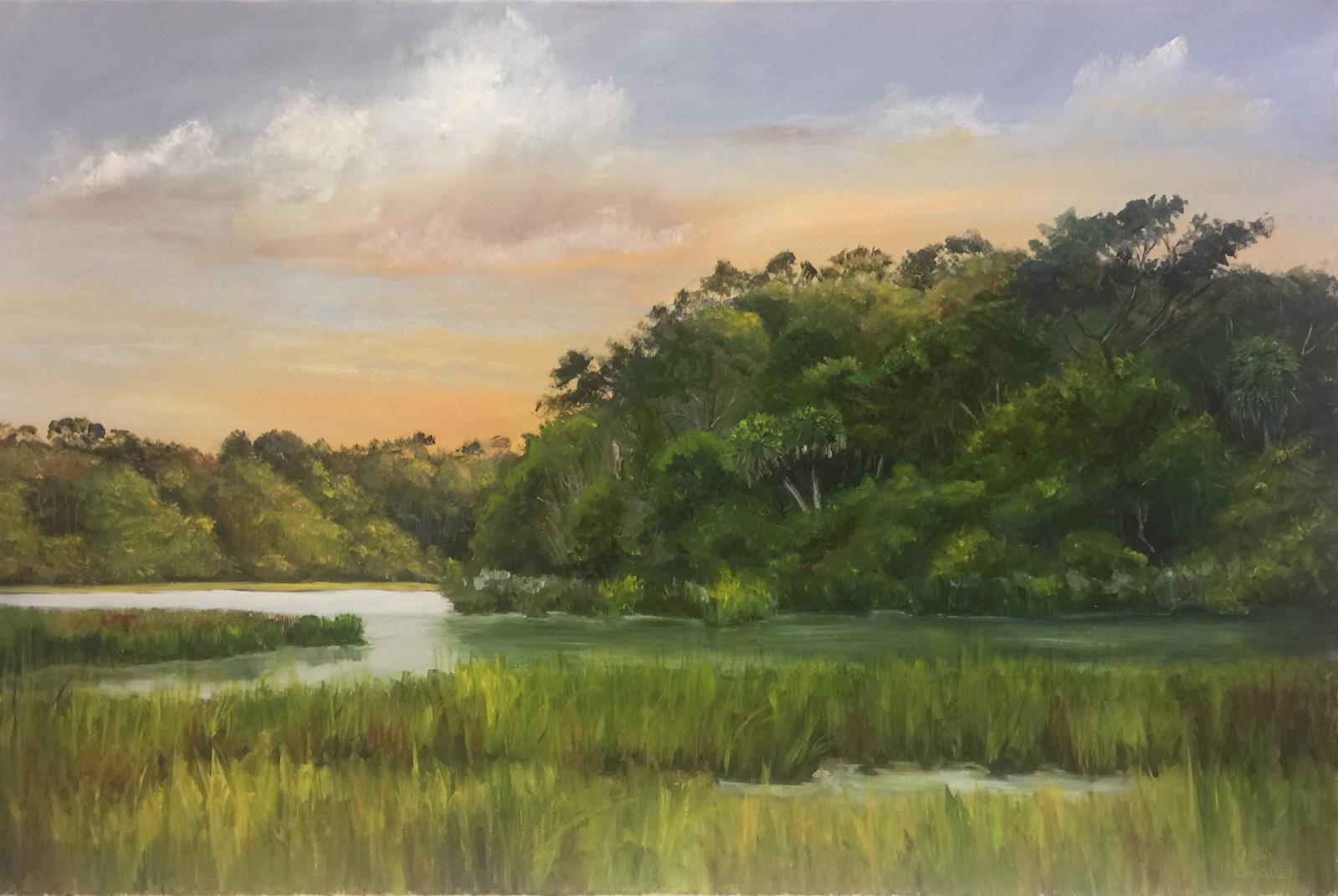 Botany Bay Marsh  Oil on Linen 20x30