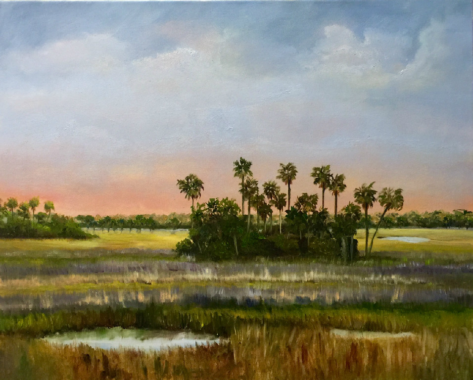 Gathering of Palms  Oil on Canvas 24x30