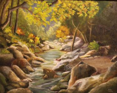 Blue Ridge Creek  Oil on Canvas 16x20