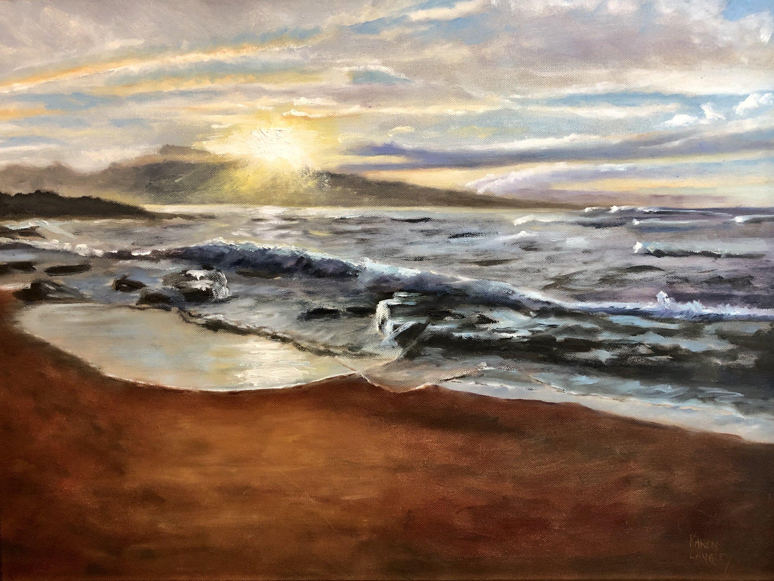 Maui Sunset  Oil on Canvas 16x20