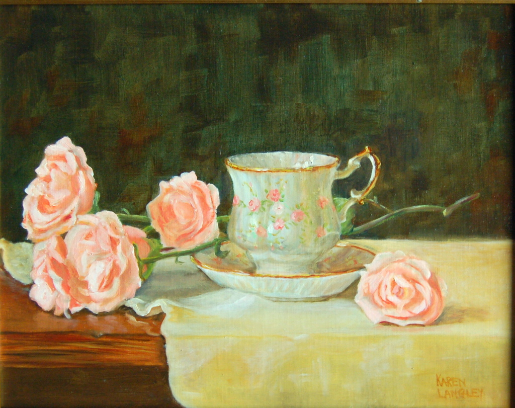 Tea and Roses  Oil on Linen 11x14