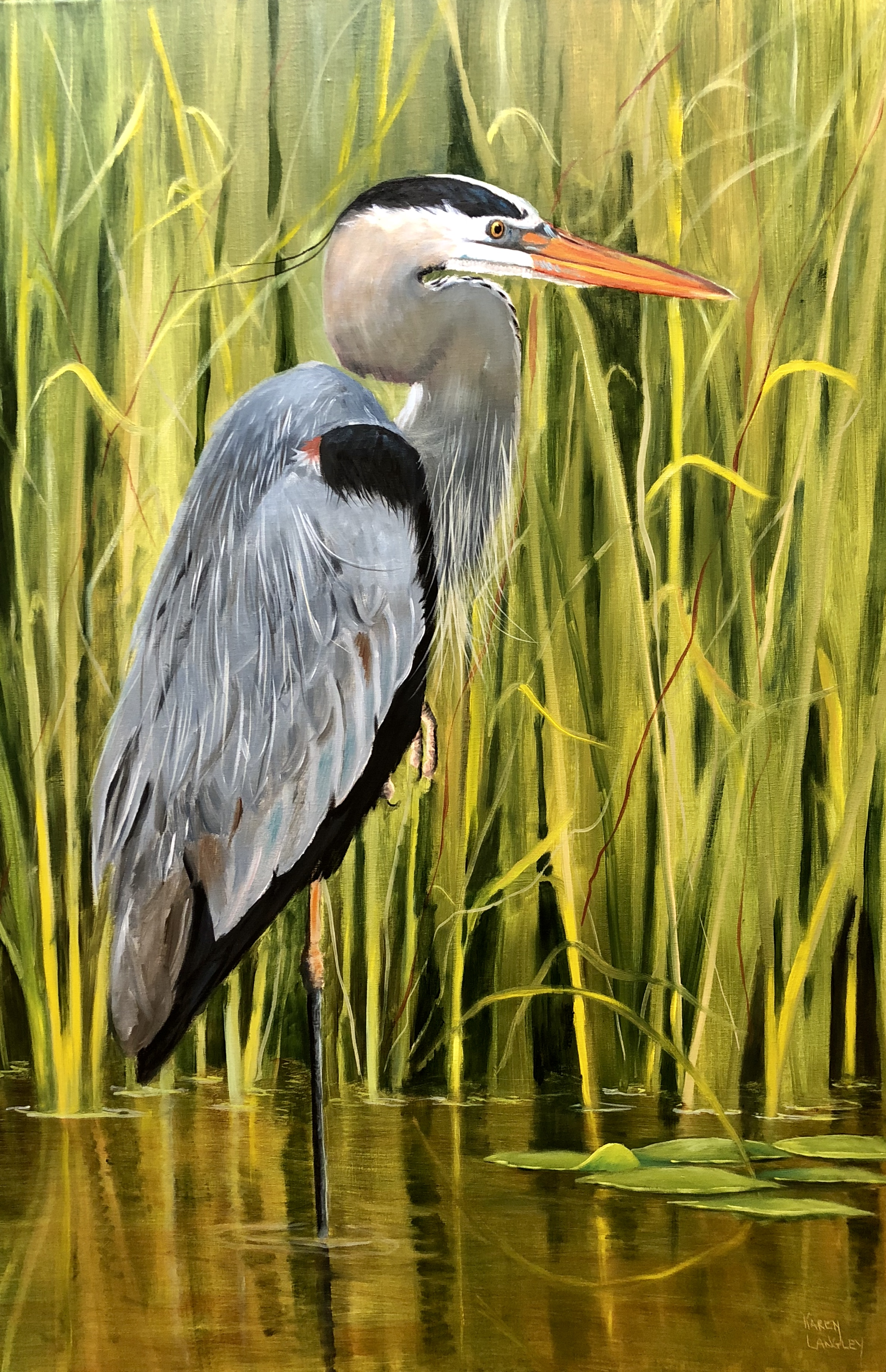 Day Dreaming in the Marsh 1  Oil on Linen 24x36