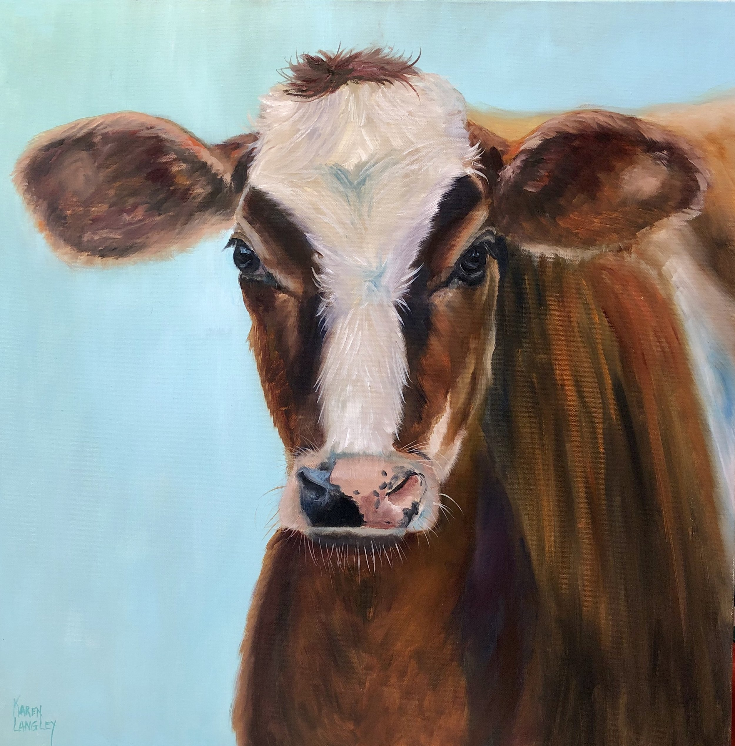 Butternut  Oil on Gallery Wrapped Canvas 30x30