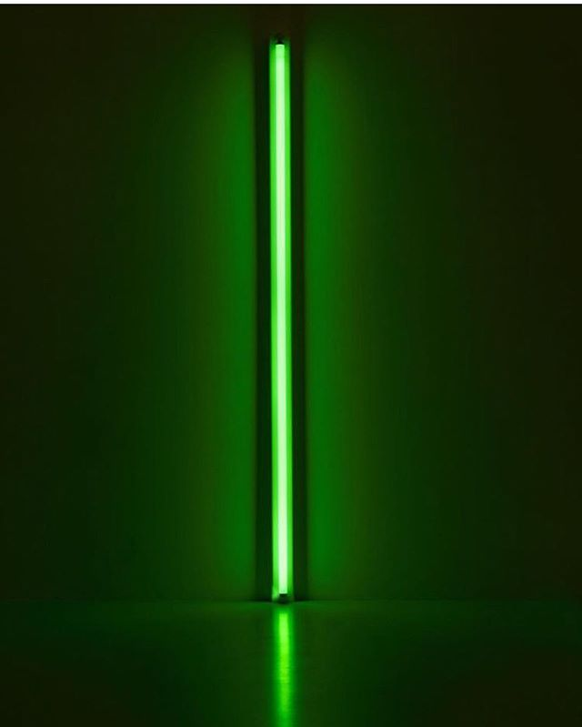 delusion  or delight? confusion or clarity? u choose . . . . . #karma #buddhist #philosophy #danflavin #art #neon #lime #meditate #meditation #contemplation #illumination #spiritualawakening #spirituality #breathe #instapoet #instapoetry #poem #buddhism #contemporaryart