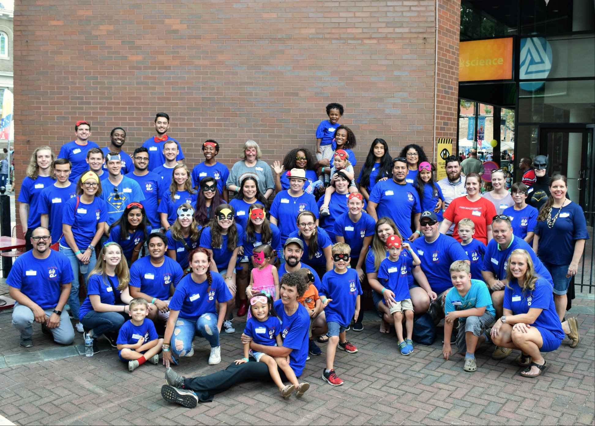 Group photo from the Fall 2018 Family-Get-Together at the Discovery Place Charlotte.