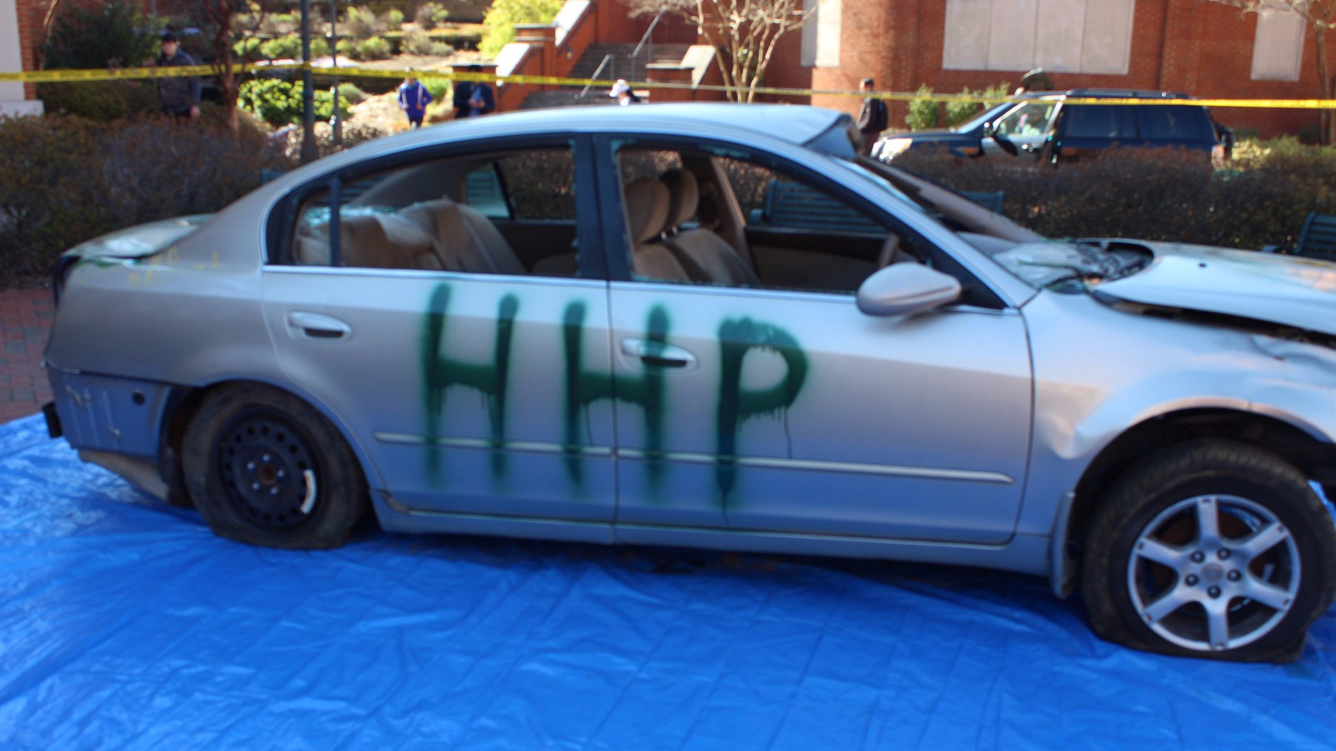 Car Parts NC donated one of their junk cars so that we could raise money through a car smash fundraising event.
