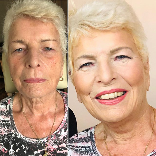 Happy Birthday! You look amazing.... 87 years young. I was so honored to do your makeup .  #womanmakeupclases # greyhair #lookscosmetics
