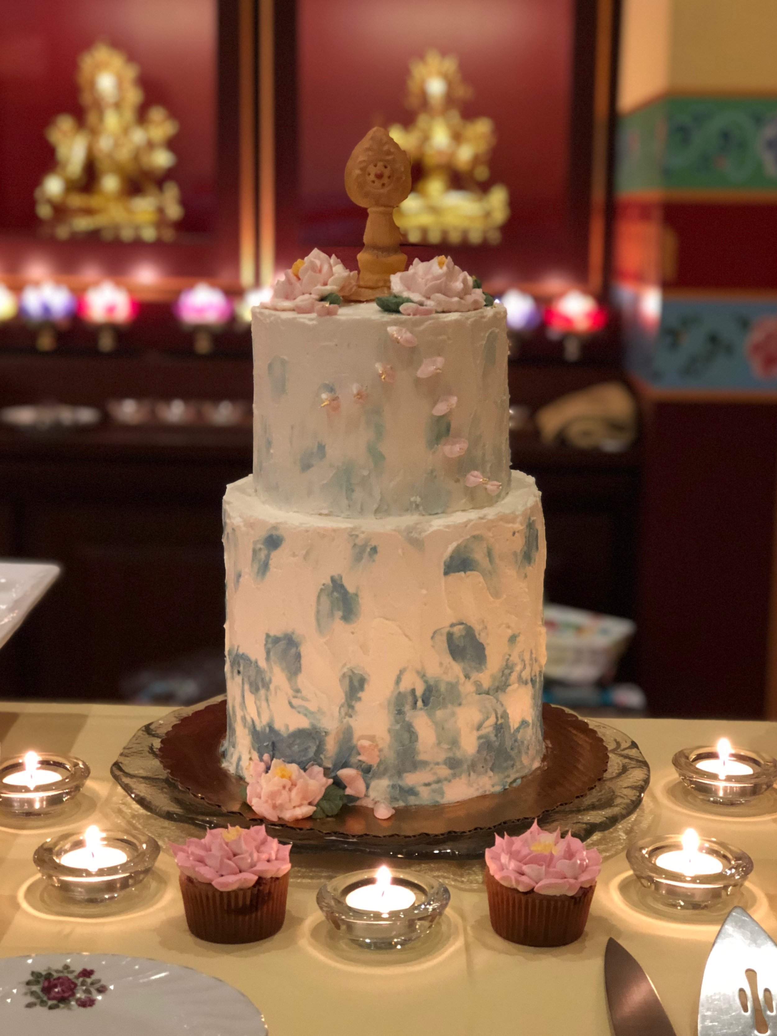 Buttercreamlotuspond_anniversarycustomcake