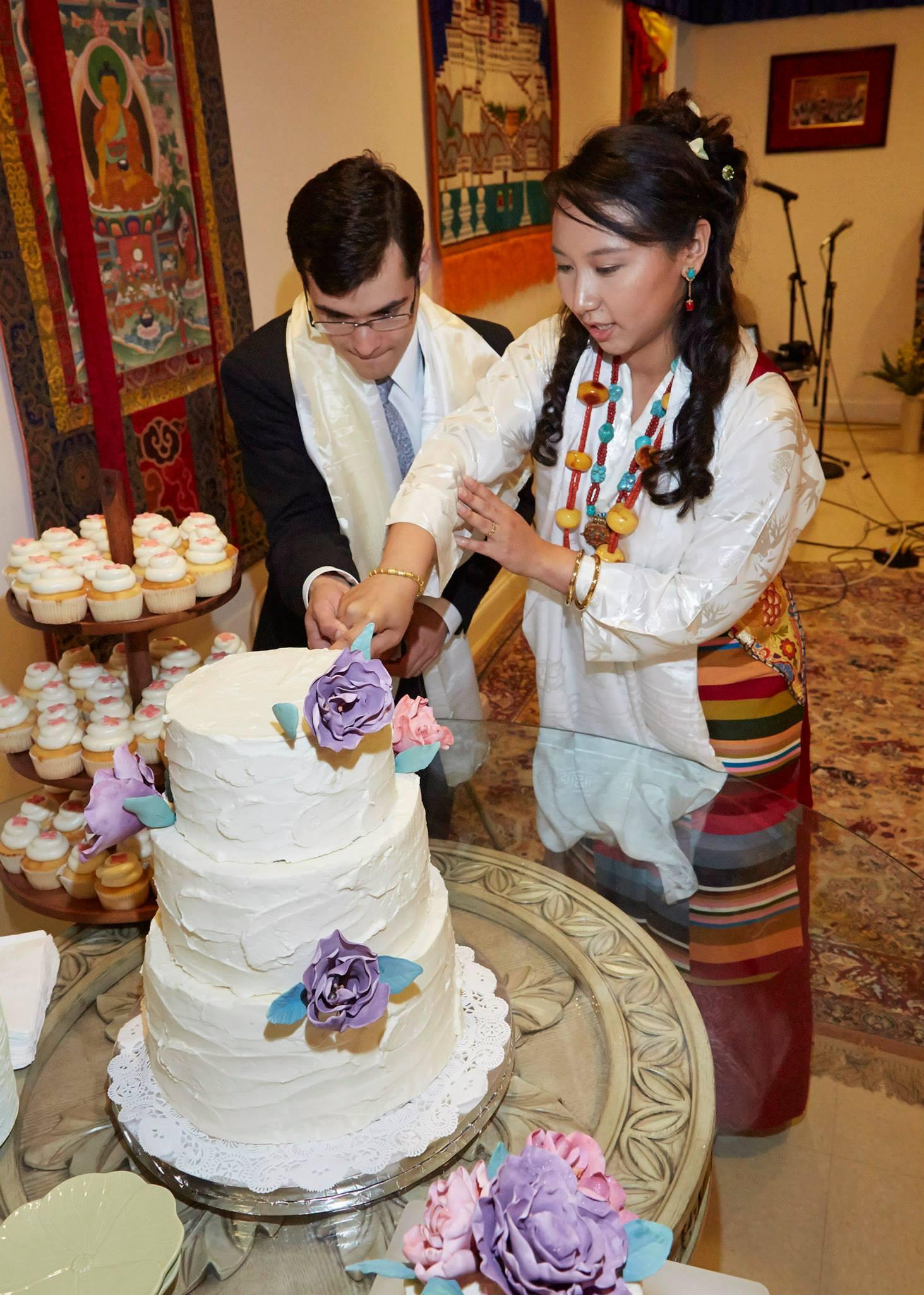 Wedding: Peony Cake