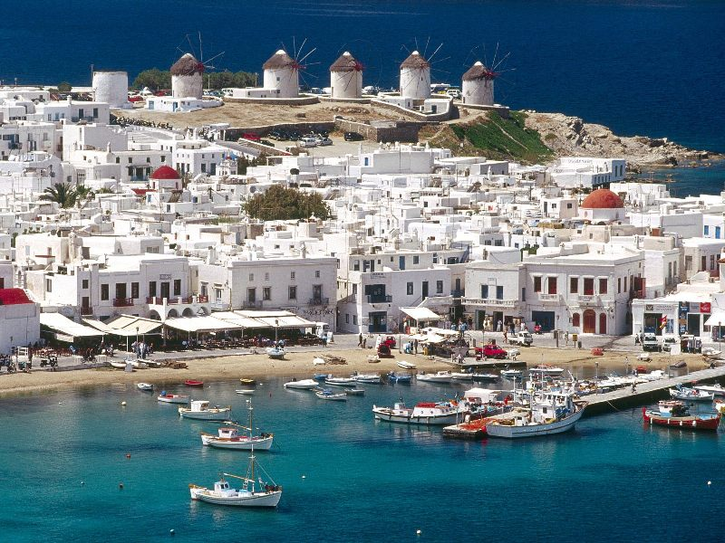 Port and Town of Mykonos