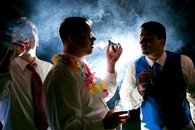Hangin with the groomsmen