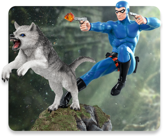 1:6 Scale Blue Variant Phantom and Devil Statue