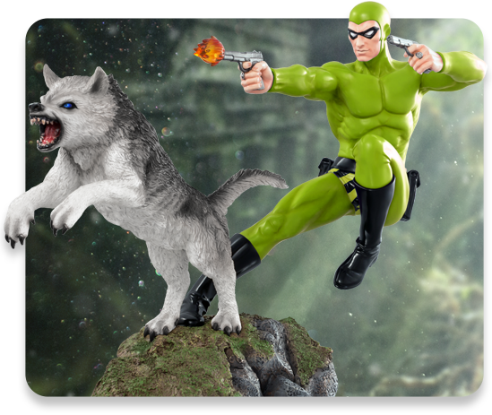 1:6 Scale Exclusive Green Variant Phantom and Devil Statue