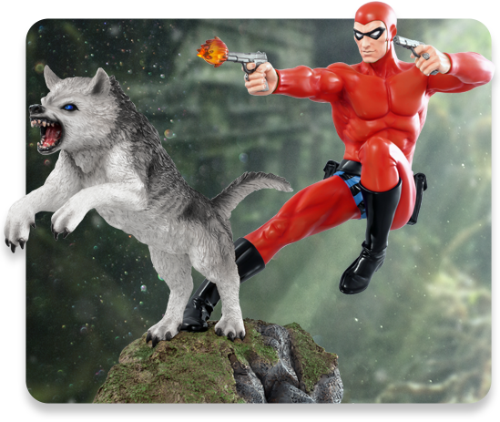 1:6 Scale Red Variant Phantom and Devil Statue