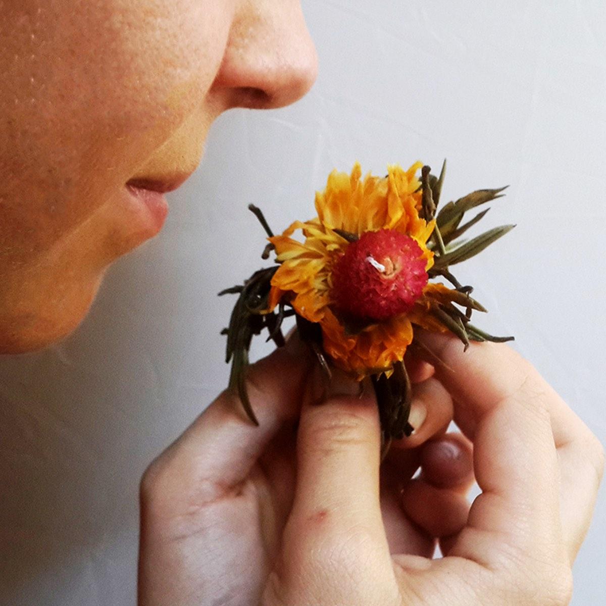 Flowers and Tea Balls -