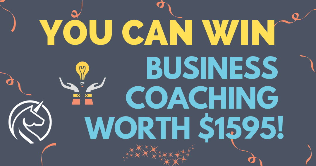 You can win $1595 worth of business coaching for your small business. One month of coaching will help your online business thrive!