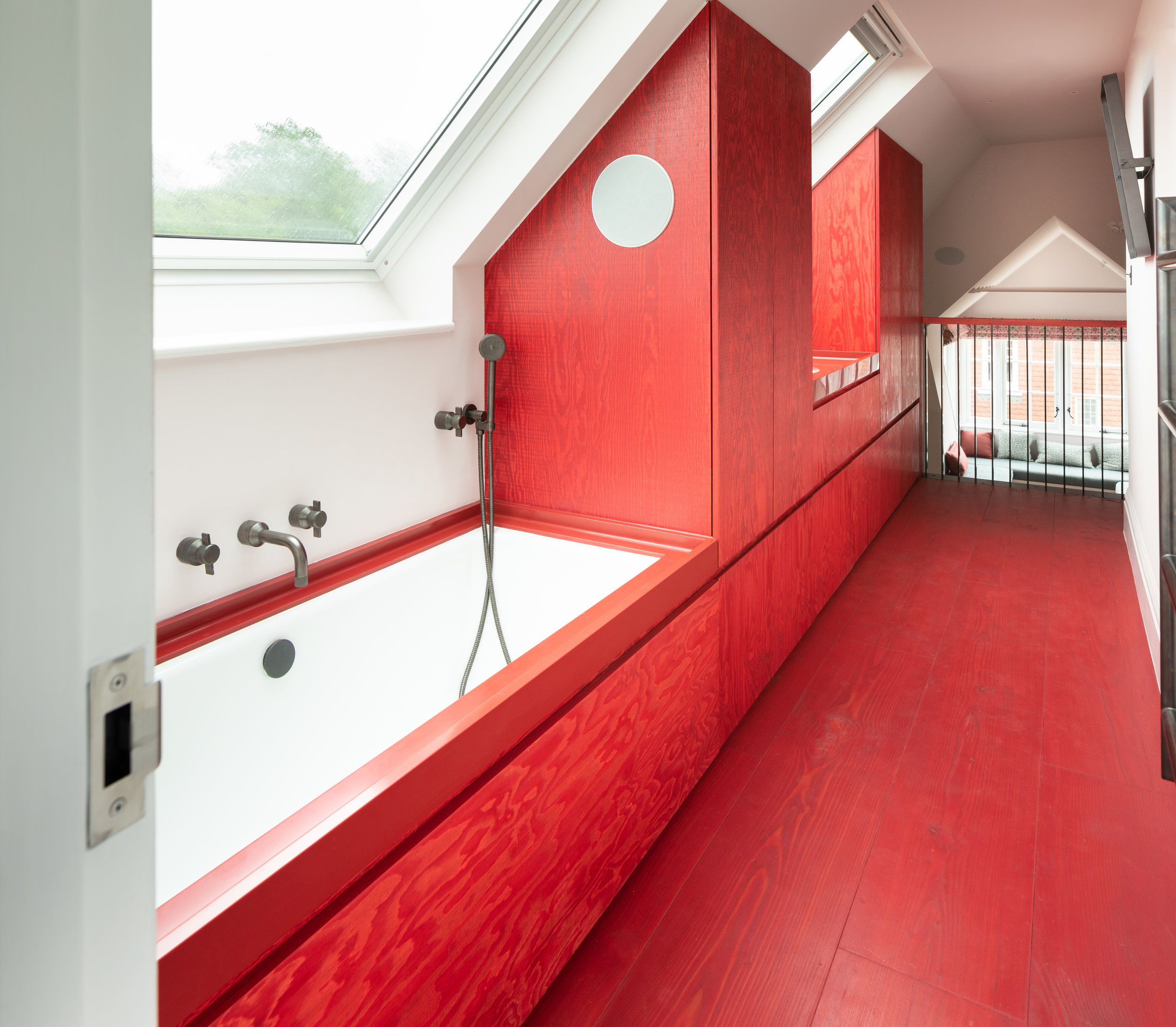 Cheshire Red Bathroom
