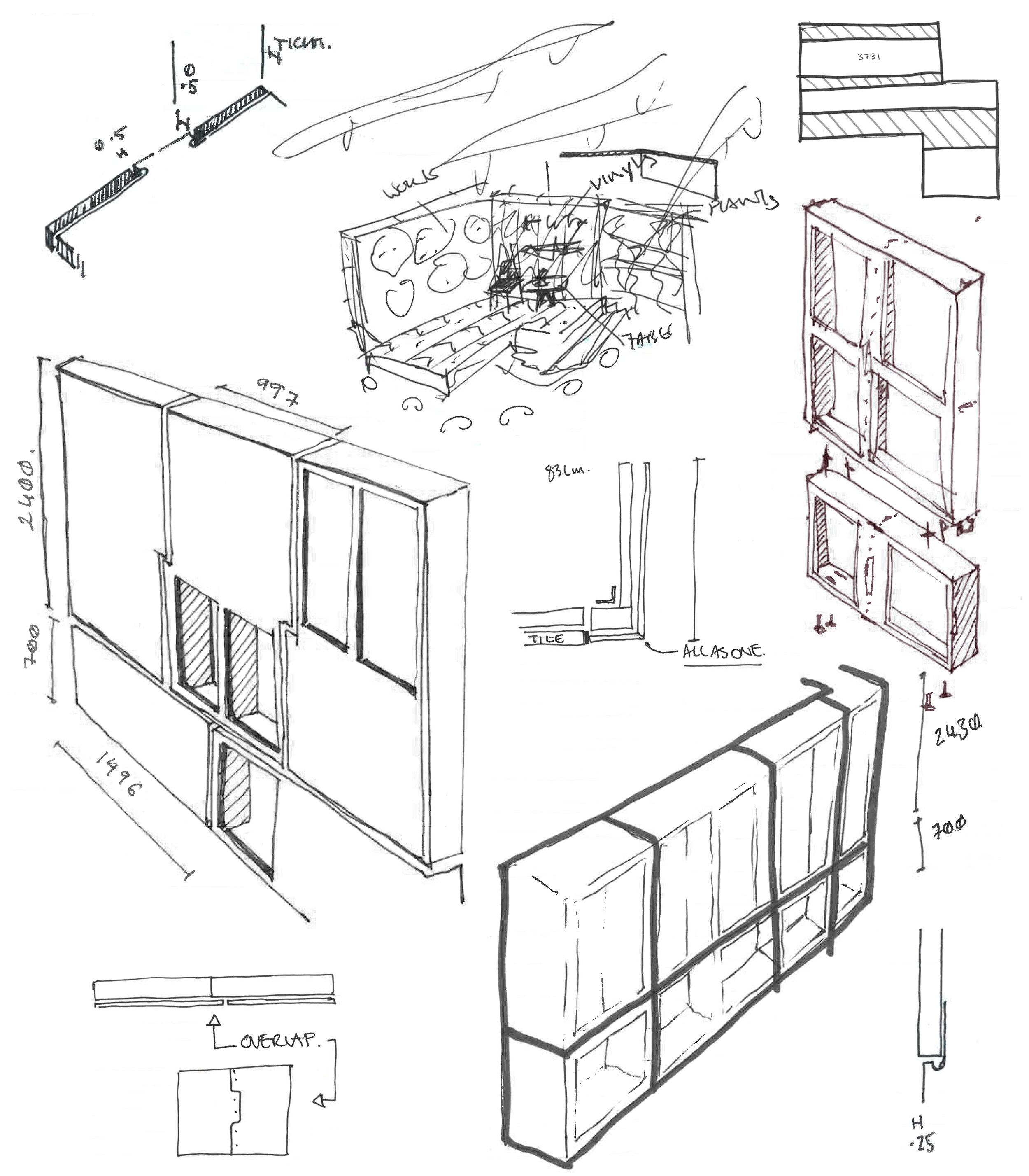 - Concept design sketches