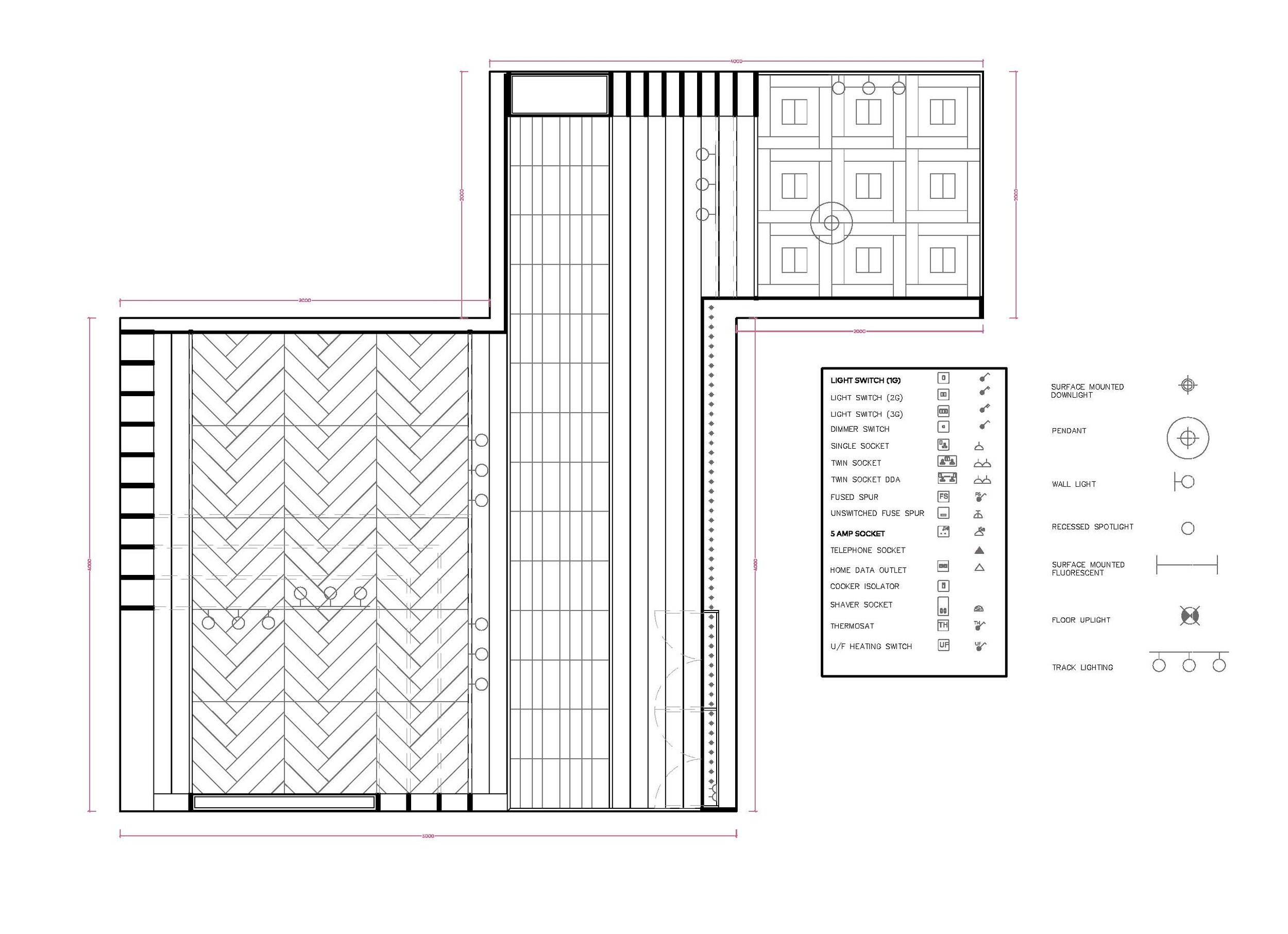 - Setting out the design in AutoCAD