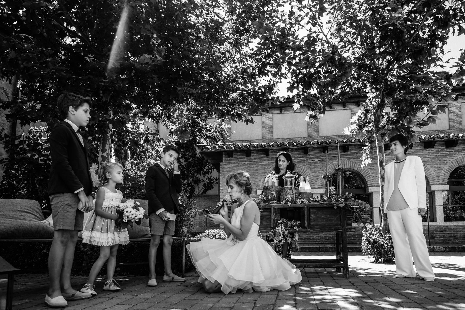 two girls wedding ceremony