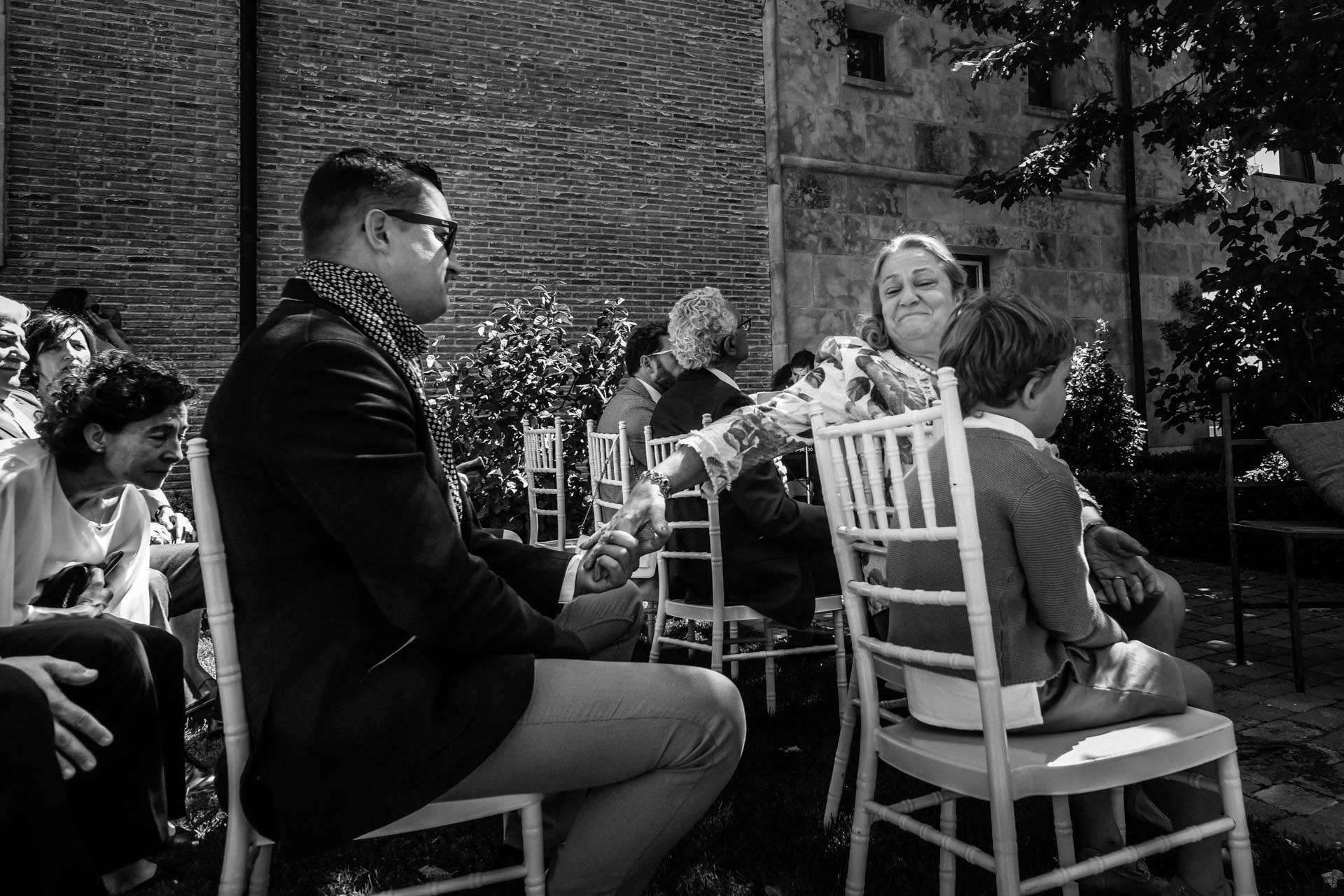 pequeños gestos de amor en una ceremonia civil