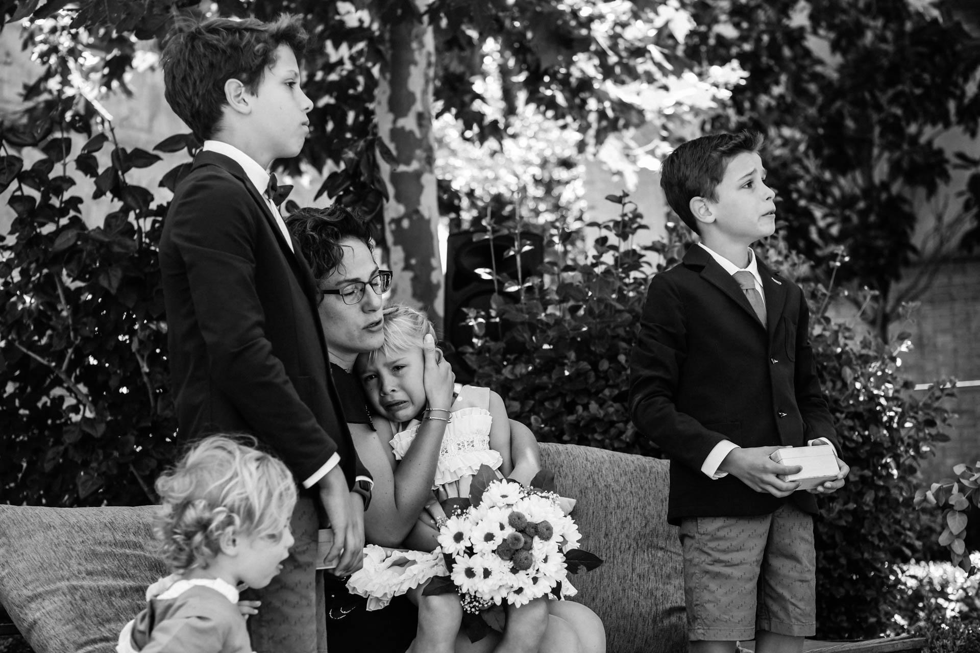 emociones en una boda al aire libre