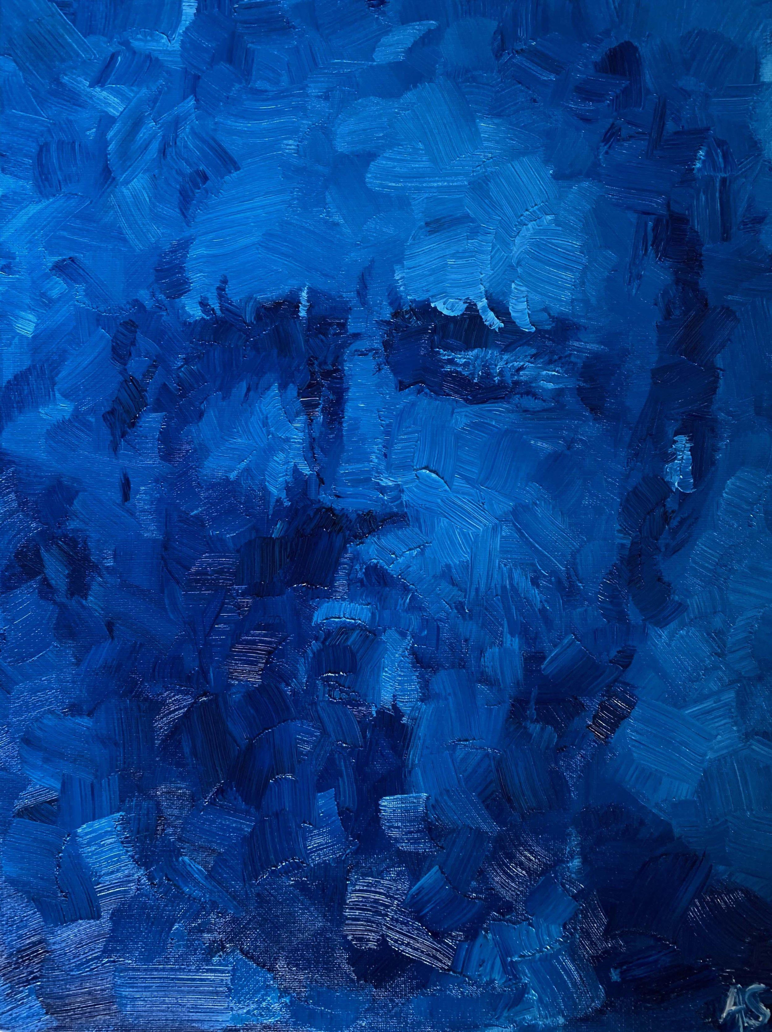 Blue Self Portrait #3