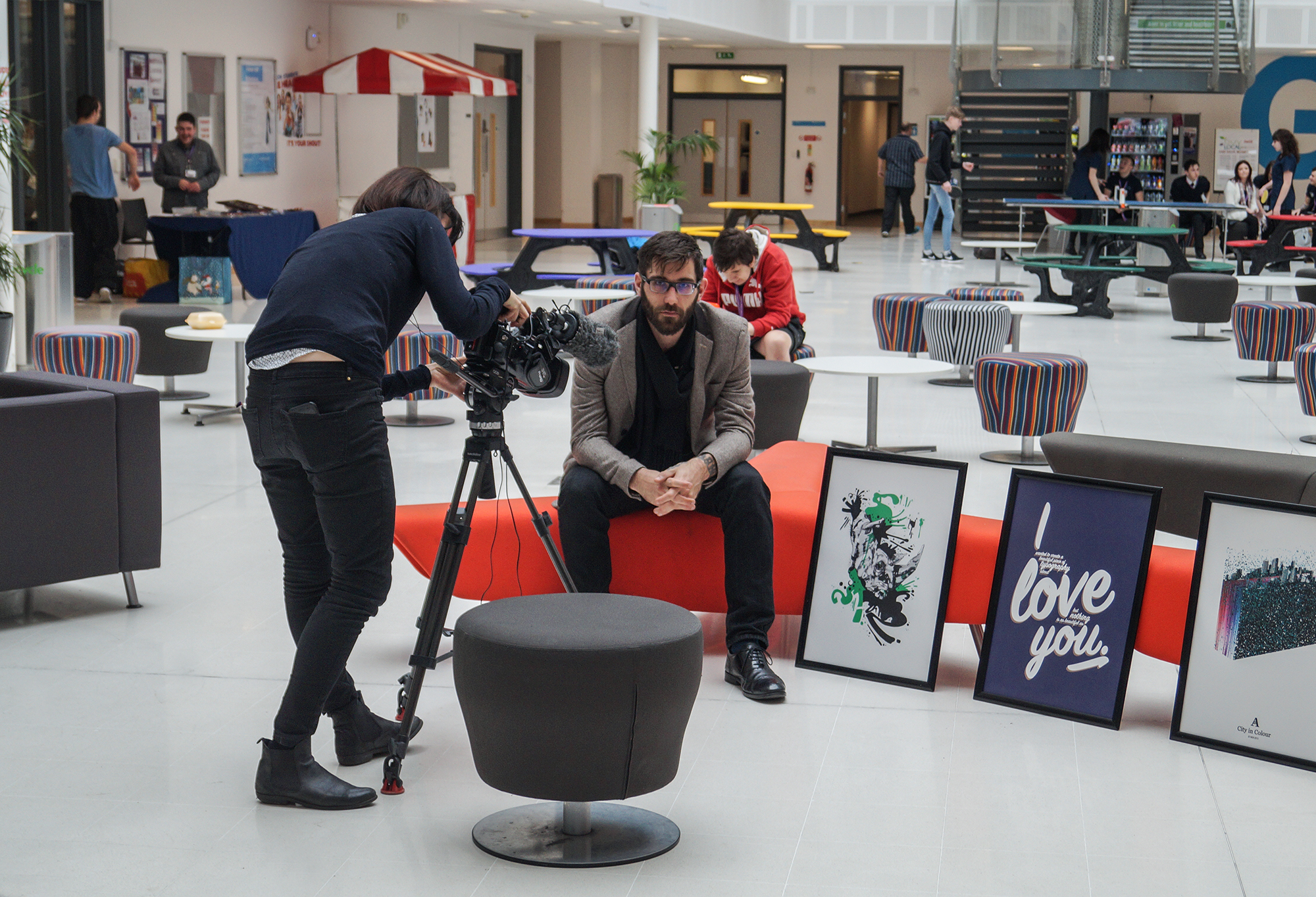 Ash Allwood telling BBC South East Today reporter, Bryony MacKenzie about his time living on the streets and how studying at degree at the college helped to get his life back on track.