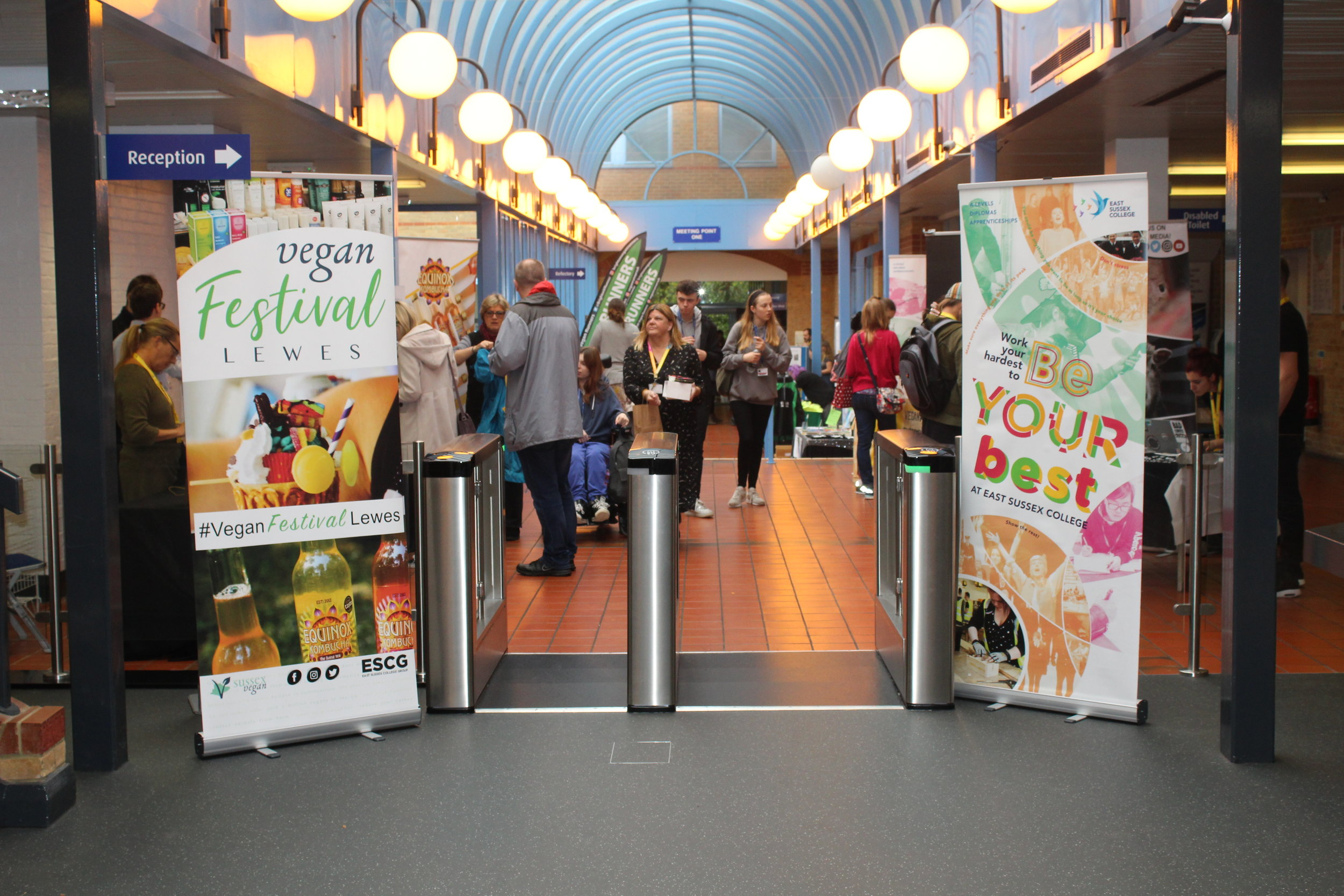 Vegan exhibitors take over East Sussex College for Veganuary