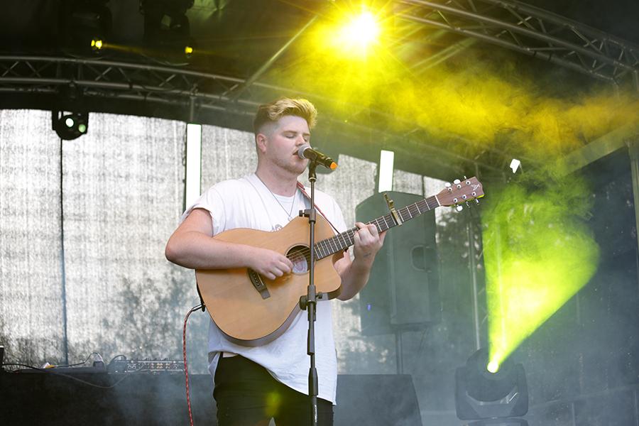Morgan performing at ESC MiniFest Lewes in July 2019.