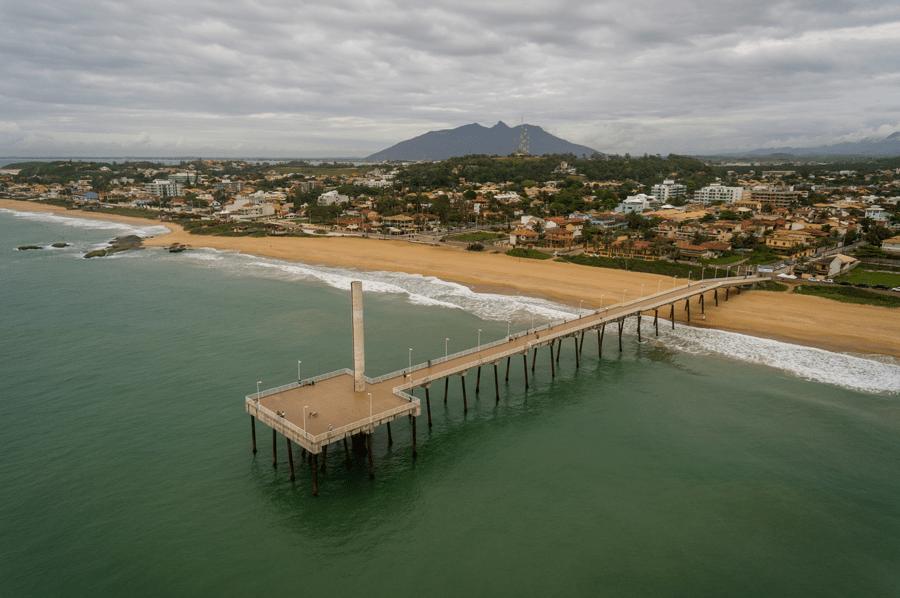Emissário submarino em Rio das Ostras, Rio de Janeiro